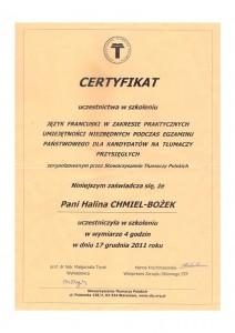 Certyfikat od STP 2
