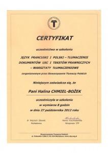 certyfikat od STP