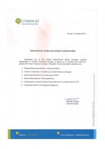 Certyfikat od mLingua_2